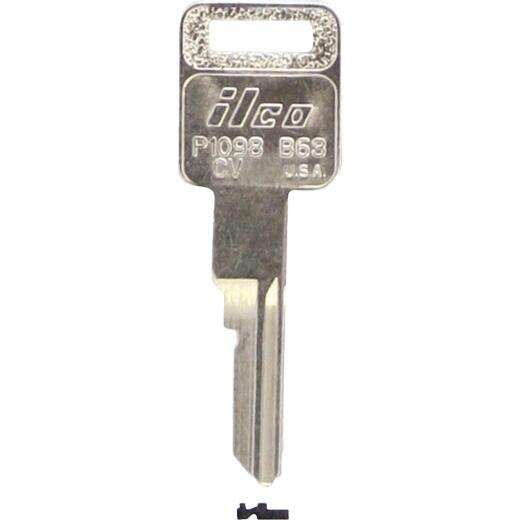 ILCO GM Nickel Plated Automotive Key, B63 (10-Pack)