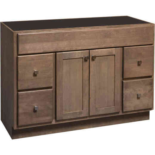 Bertch Bear Creek Driftwood 48 In. W x 34-1/2 In. H x 21 In. D Vanity Base, 2 Door/4 Drawer