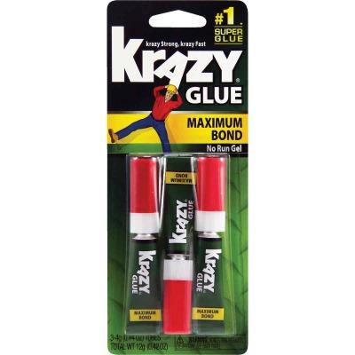 Krazy Glue 0.14 Oz. Maximum Bond Super Glue Gel (3-Pack)