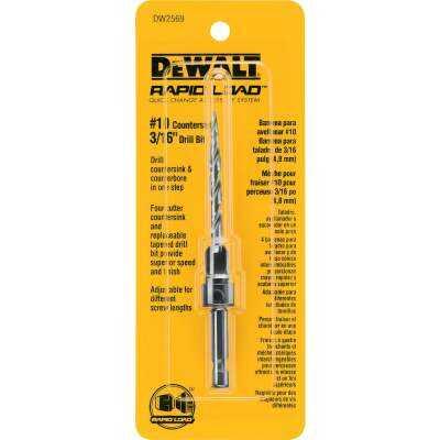 DeWalt #10 - 3/16 In. Fine Rapid Load Wood Countersink