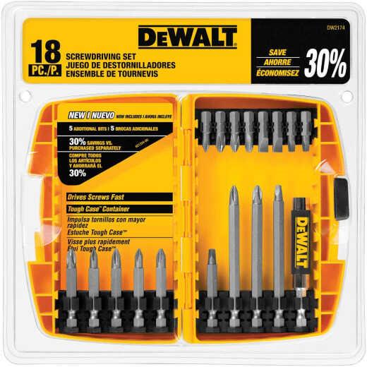 DeWalt 18-Piece Screwdriver Bit Set with Tough Case