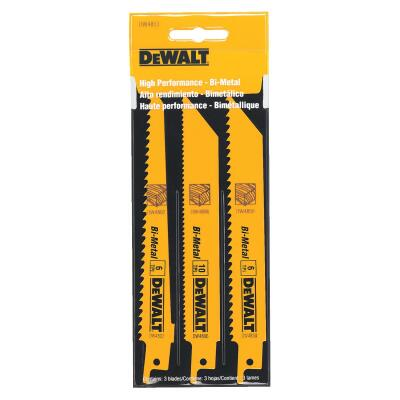 DeWalt 3-Piece Reciprocating Saw Blade Set