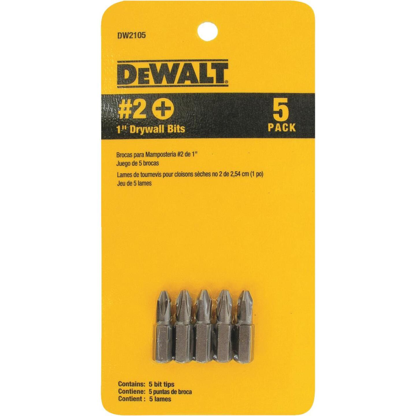 DeWalt Drywall Screwdriver Bit Set (5-Piece) Image 1