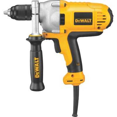 DeWalt 1/2 In. 10-Amp Keyless Electric Drill with Mid-Handle Grip