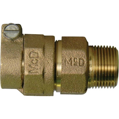 A Y Mcdonald 1 In Cts X 3 4 In Mipt Brass Low Lead Connector Buchanan Home Center Inc