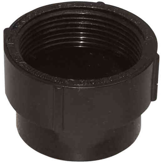 Charlotte Pipe 1-1/2 In. Spigot x FIP Fitting ABS Cleanout