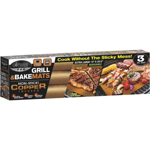 Gotham Steel Pro Copper Infused Grill & Bake Mat (3 Pack)