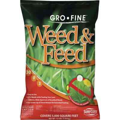 Gro-Fine Weed & Feed 13 Lb. 5000 Sq. Ft. 30-0-3 Lawn Fertilizer with Weed Killer