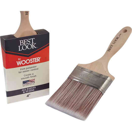 Best Look By Wooster 4 In. Flat Paint Brush