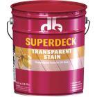 Duckback SUPERDECK Transparent Exterior Stain, Heart Redwood, 5 Gal. Image 1