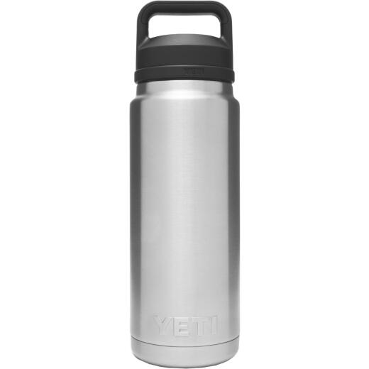 Yeti Rambler 26 Oz. Silver Stainless Steel Insulated Vacuum Bottle with Chug Cap