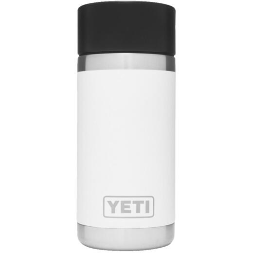 Yeti Rambler 12 Oz. White Stainless Steel Insulated Vacuum Bottle with Hot Shot Cap